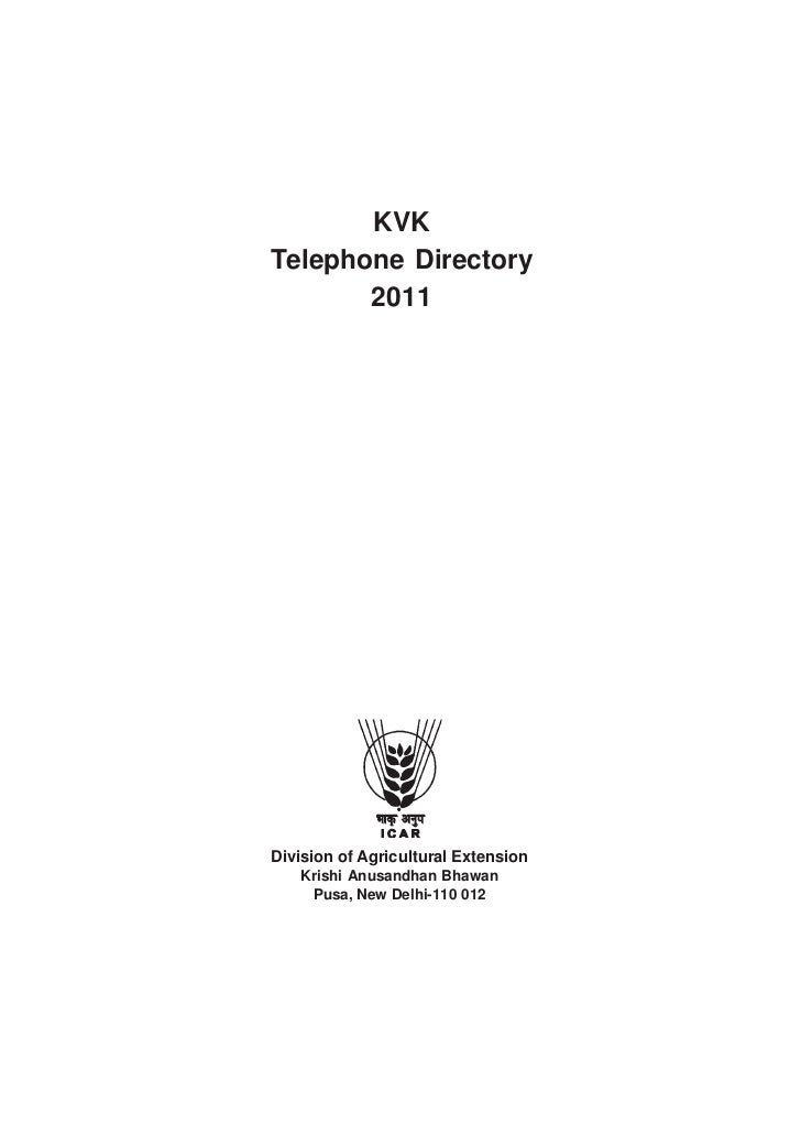 2011 KVK Telephone Directory