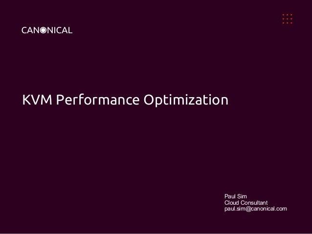 Kvm performance optimization for ubuntu