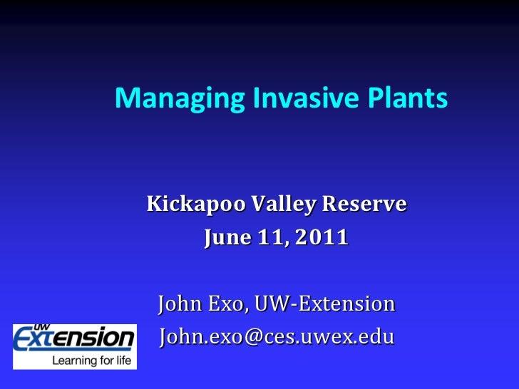 Invasive Plant Management
