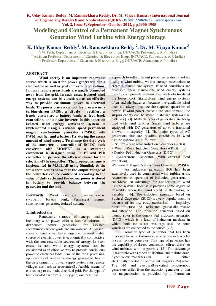 K. Uday Kumar Reddy, M. Ramasekhara Reddy, Dr. M. Vijaya Kumar / International Journal    of Engineering Research and Appl...