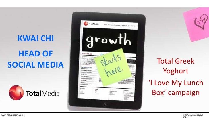 Chinwag Insight: Facebook Marketing - Kwai Chi, Total Media -  Facebook 360: Integrated Marketing