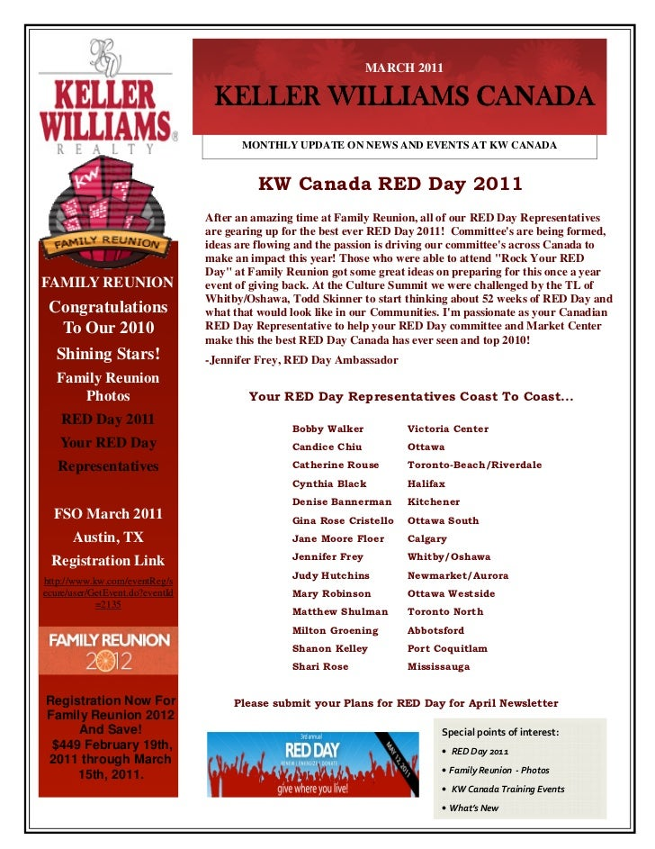 KW Canada Newsletter - March 2011