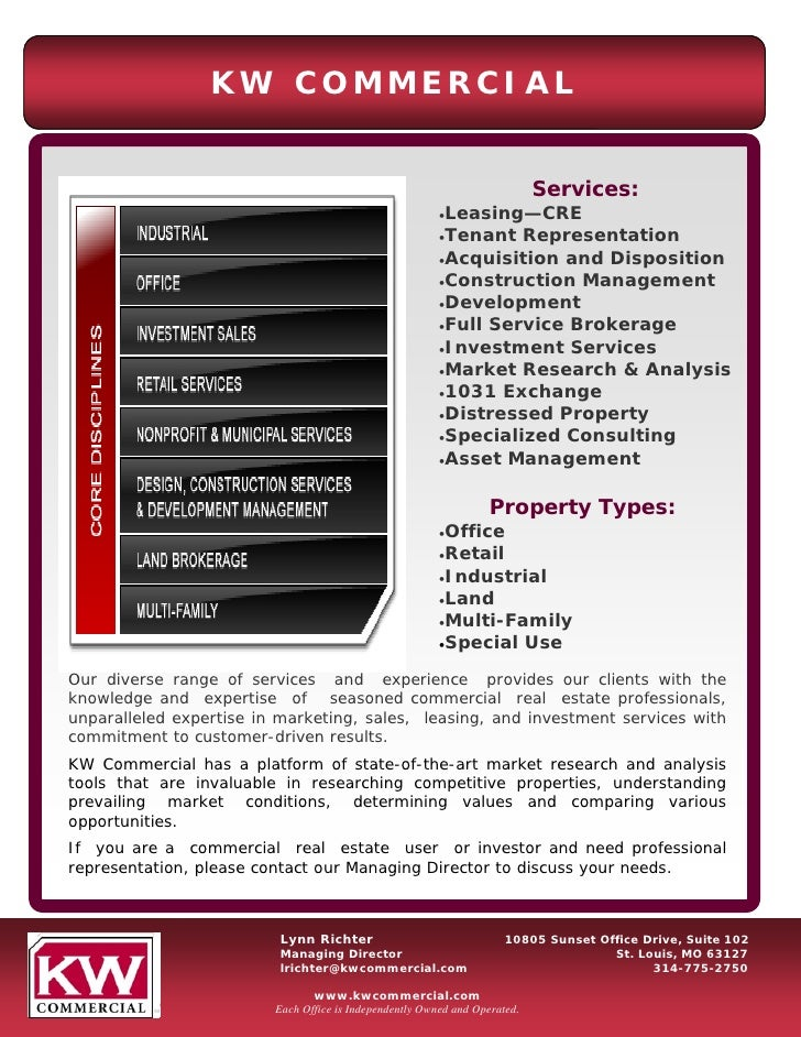 Kwcommercial Services Summary