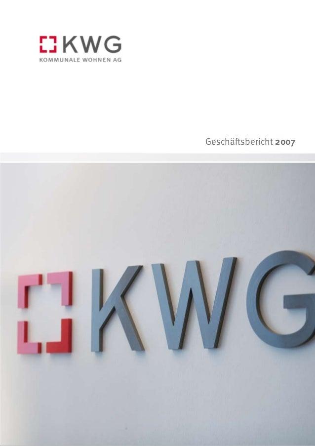 KWG Geschäftsbericht 2007