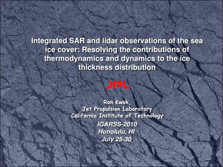 Integrated SAR and lidar observations of the sea ice cover: Resolving the contributions of thermodynamics and dynamics to ...