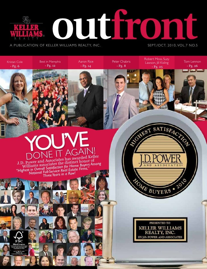 A PUBLIC ATION OF KELLER WILLIAMS REALTY, INC .                                    SEPT./OCT. 2010, VOL.7 NO.5            ...