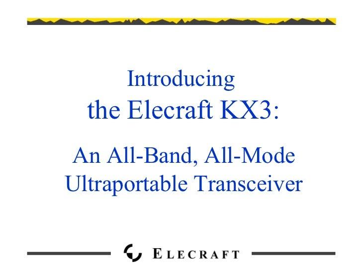 Download Elecraft KX3 specifications
