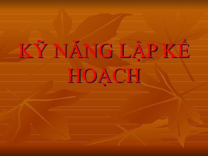 Ky Nang Lap Ke Hoach