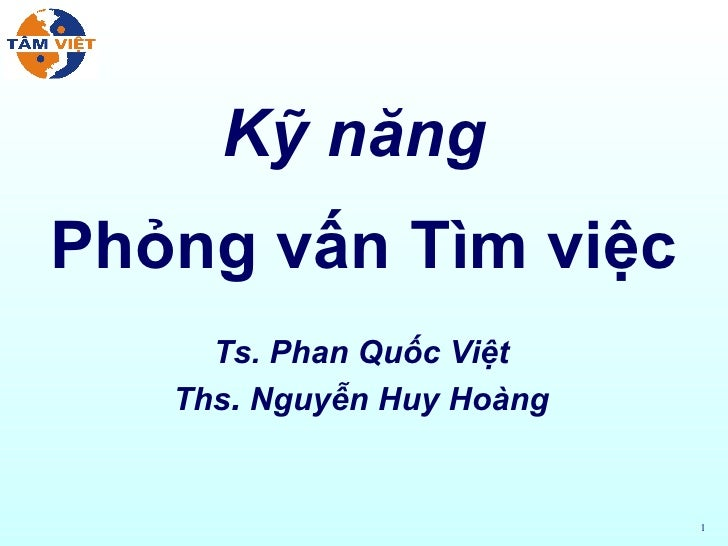 Ky Nang Phong Van Tim Viec