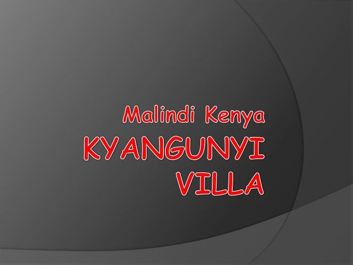 Kyangunyi villa