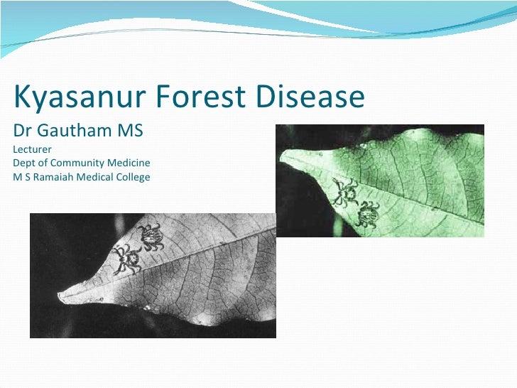 Kyasanur Forest Disease Dr Gautham MS  Lecturer Dept of Community Medicine  M S Ramaiah Medical College