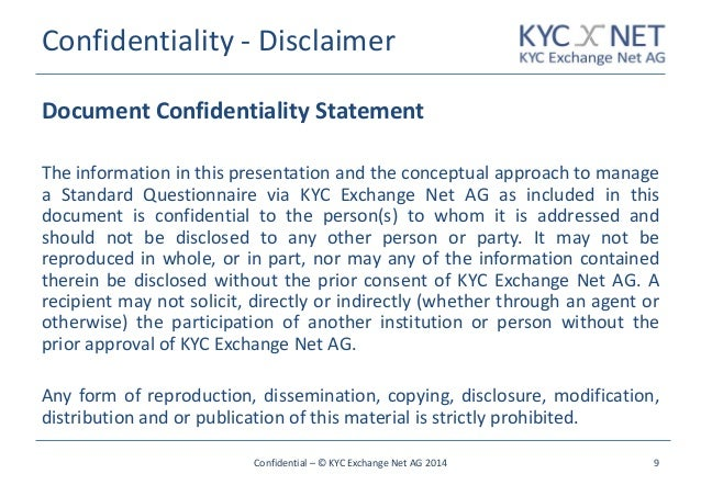 confidential statement sample - Kubre.euforic.co