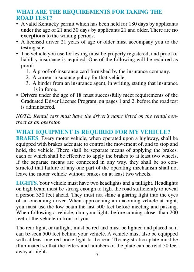 Kentucky Drivers Manual (KY Permit Book) 2019 + FREE TEST