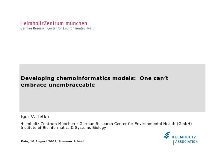 Developing Chemoinformatics Models