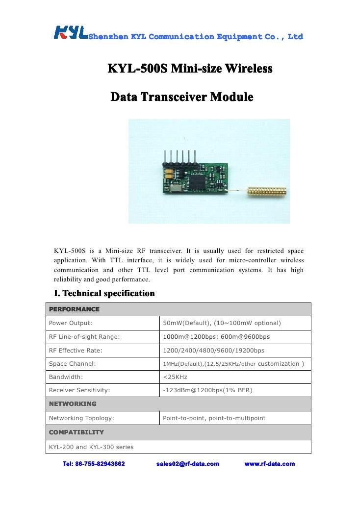 Shenzhen KYL Communication Equipment Co., Ltd                                                  Co.,                     KY...