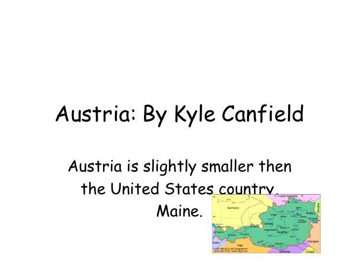 Kyle Canfield Austria