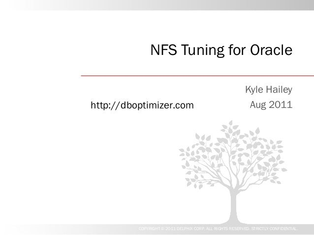 NFS Tuning for Oracle                                                           Kyle Haileyhttp://dboptimizer.com         ...