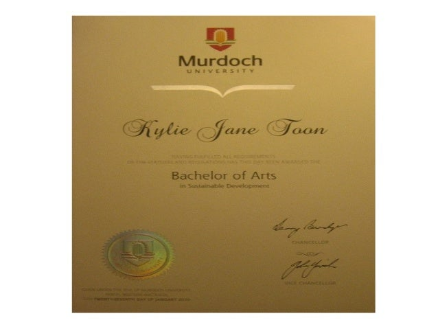 Kylie's certificates