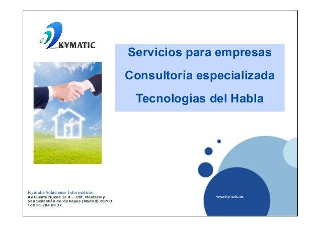 Servicios para empresas                                            Consultoría especializada                              ...