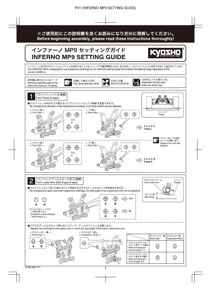 Kyosho mp9 manual de despiece