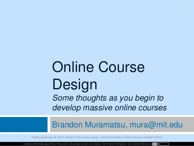 Online Course Design: Some Thoughts as You Get Started