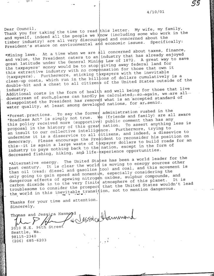 '55                                                                   4 /10 /01    Dear Council,                          ...