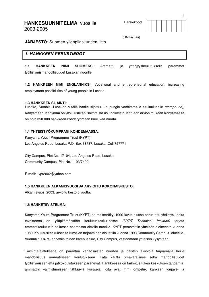 Kyp 2003 05-hankesuunnitelma