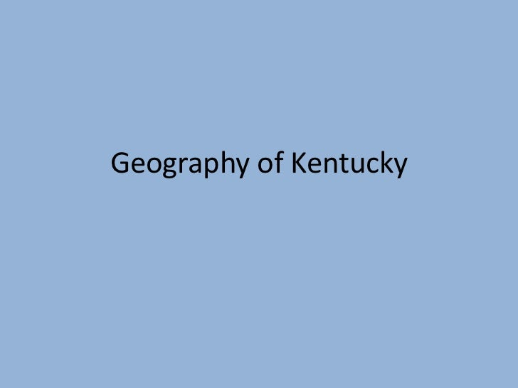 Ky studies geography of kentucky
