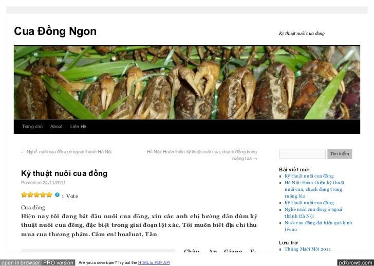 Cua Đồng Ngon                                                                                                             ...
