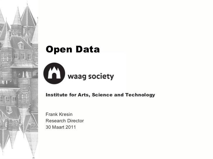 Frank Kresin - Waag Society - Open Data