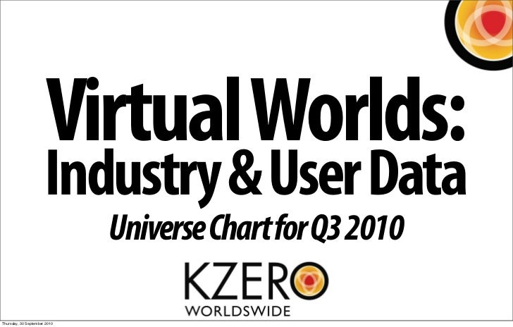 Virtual Worlds:                       Industry & User Data                               Universe Chart for Q3 2010  Thurs...