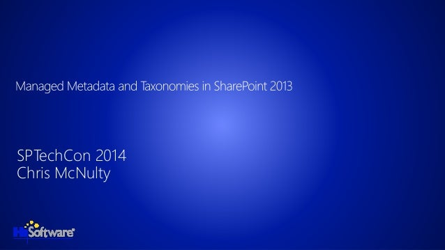 Managed Metadata and Taxonomies in SharePoint 2013