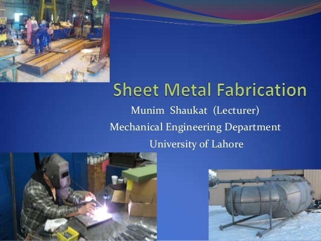 Munim Shaukat (Lecturer)Mechanical Engineering Department       University of Lahore