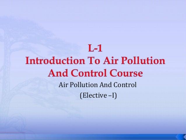 AIR POLUUTION CONTROL L 1
