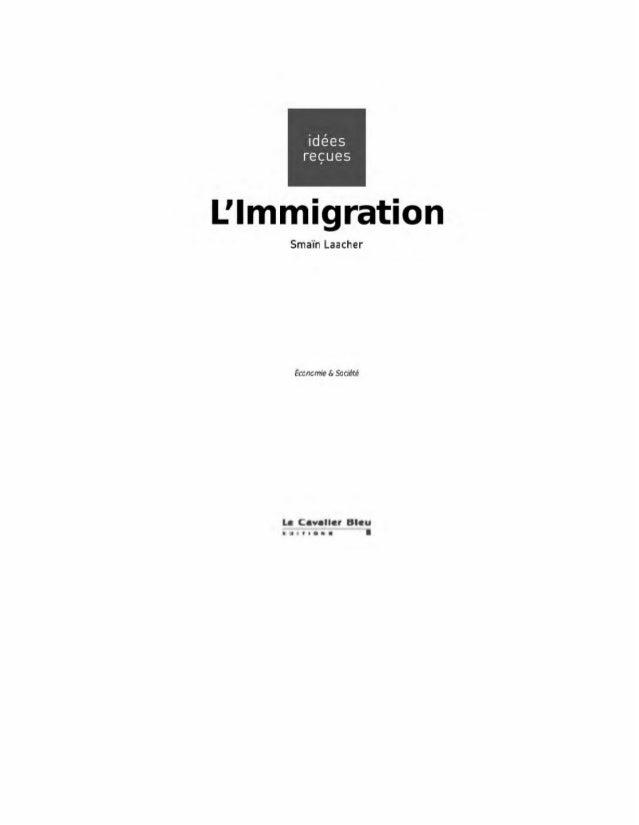 L'immigration - Idées reçues