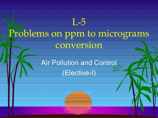 AIR POLLUTION CONTROL L 5