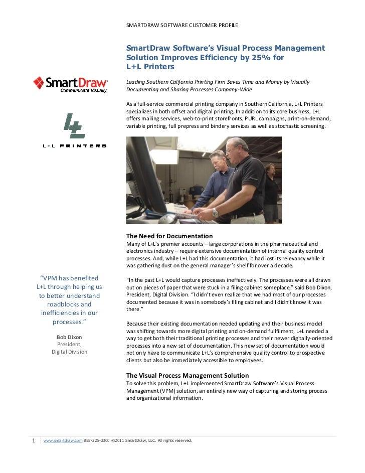 L+L Printing Company Customer Profile