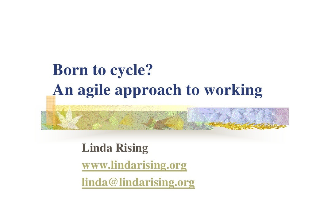 Linda Rising Born To Cycle