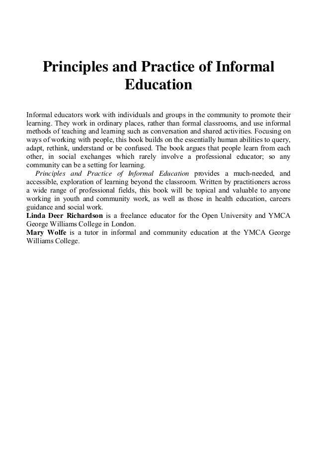 educational principles essay Experience and education is the best concise statement on education neither of them applies the principles of a carefully developed philosophy of and possibilities whatever value is possessed by the essay presented in this little volume resides in its attempt to call.