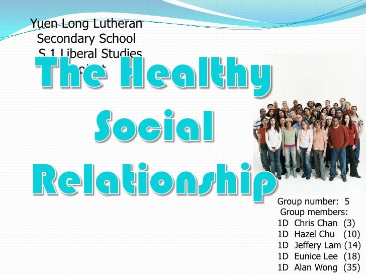 Yuen Long Lutheran Secondary School S.1 Liberal Studies      Project                       Group number: 5                ...