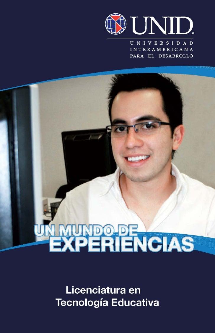 Plan de Estudio Lic. en Tecnología Educativa UNID Tuxtepec