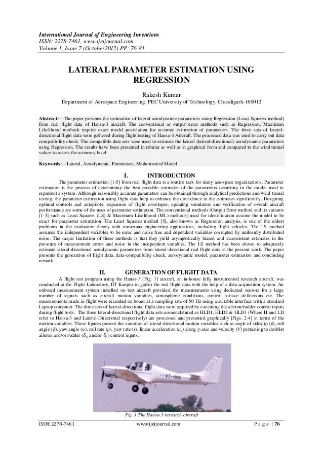 International Journal of Engineering InventionsISSN: 2278-7461, www.ijeijournal.comVolume 1, Issue 7 (October2012) PP: 76-...