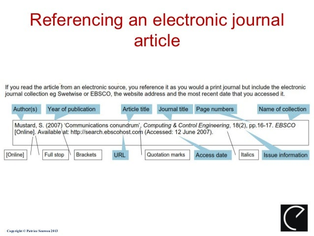 One Line Articles : Harvard referencing system
