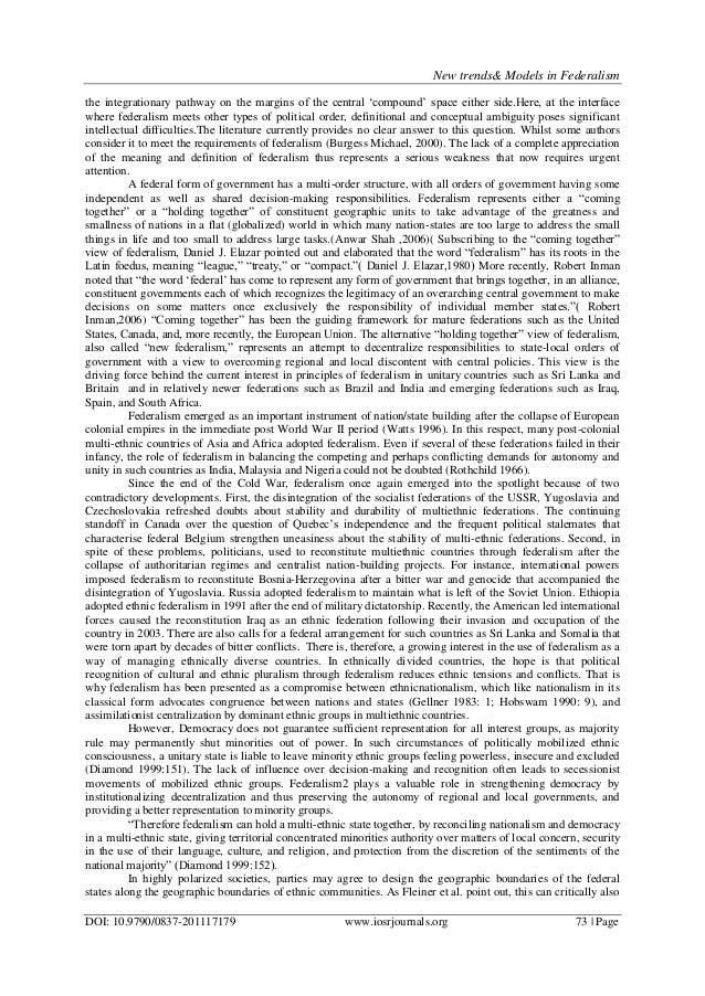 Charming Federalism Essay Federalism Essays Introduction To The Federalist Teaching  American Federalism Essay School Writing Services High Class Essays  Federalism ...