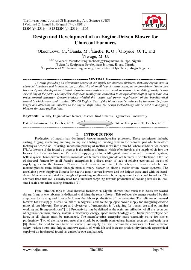 The International Journal Of Engineering And Science (IJES) ||Volume|| 2 ||Issue|| 10 ||Pages|| 74-79 ||2013|| ISSN (e): 2...