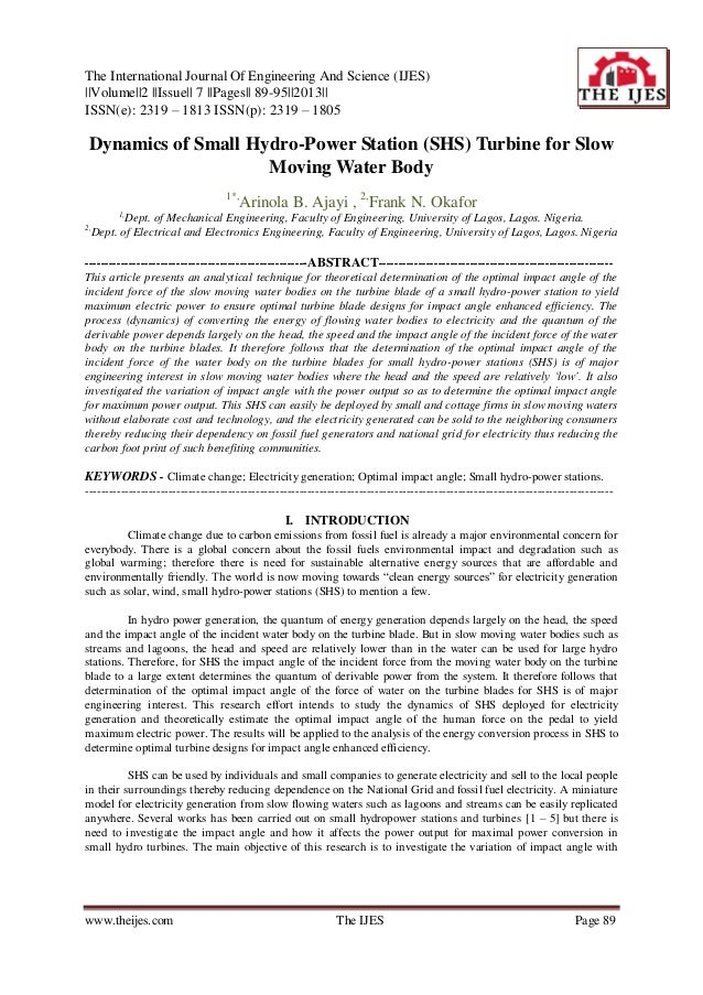 The International Journal Of Engineering And Science (IJES) ||Volume||2 ||Issue|| 7 ||Pages|| 89-95||2013|| ISSN(e): 2319 ...