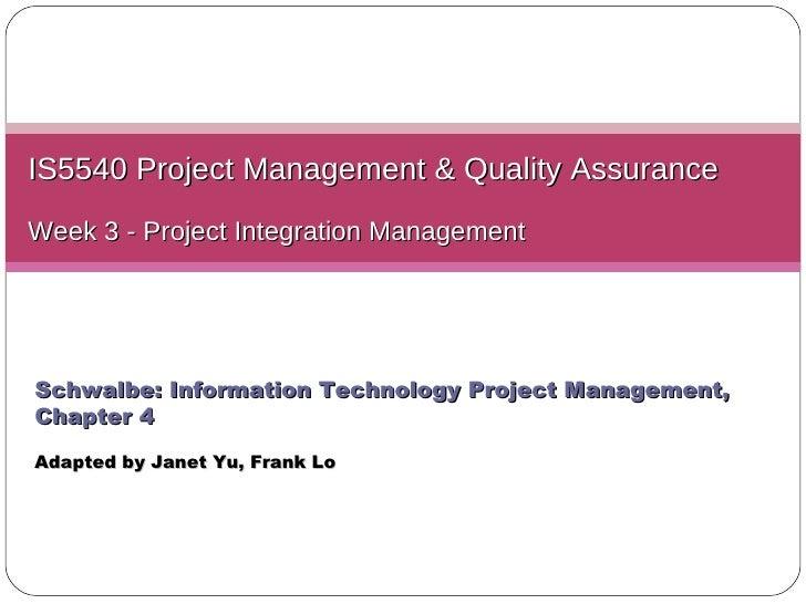 L03 integration management