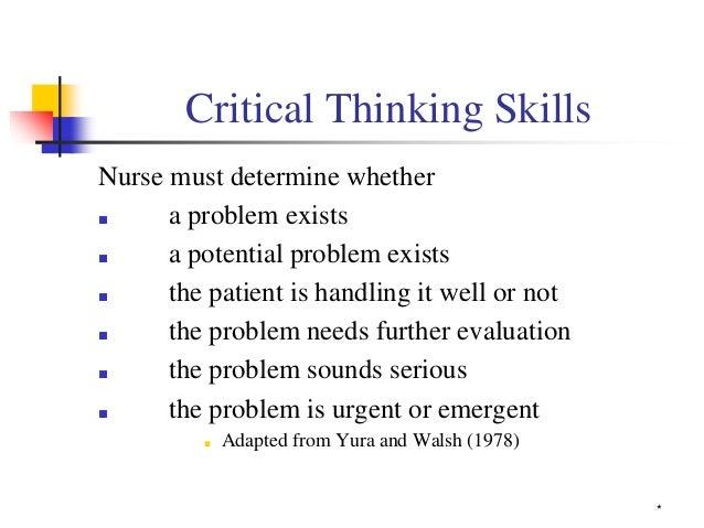 Critical Thinking As A Nurse