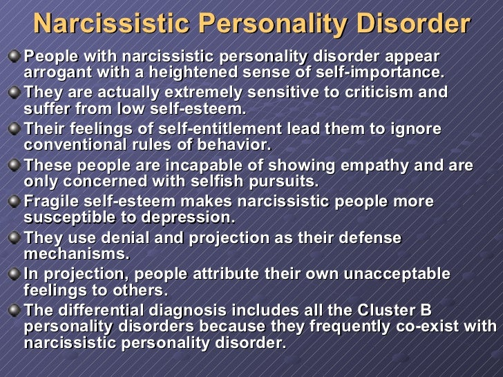 disorders narcissistic personality disorder symptoms