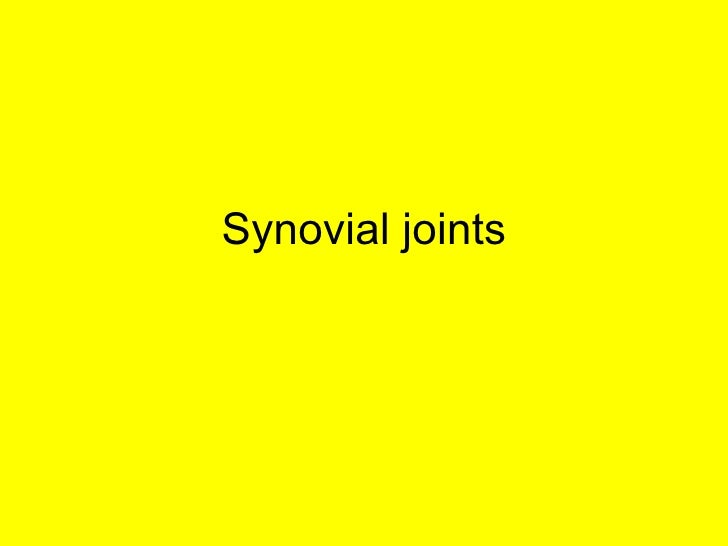 L10b Synovial Joints